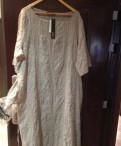 Платье бохо, 56р-ра, новое, белое платье и черные ботфорты