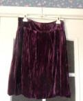 Джинсовая куртка с юбкой, юбка из бархата. На кокетке. Новая, Тихвин
