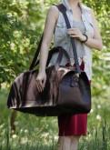 Дорожная сумка, натуральная кожа, ручная работа