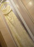 Заказ одежды из англии, невероятное) Белое кружевное платье Mango - 38 p