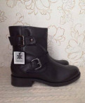 Новые кожаные демисезонные ботинки, кроссовки adidas nmd runner бордовые, Сясьстрой