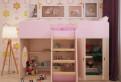 Игровая кровать чердак Розовая