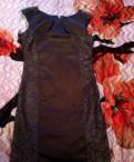 Одежда из хлопка в вертикальную бело голубую полоску, платье
