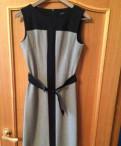 Продаются женские платья, плащ и блузка, платья из льна голубое
