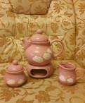 Сервиз розовый чайник сахарница молочник