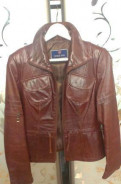 Кожаная куртка. Р-р 44, sempre одежда турции каталог