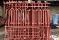Кованый забор и откатные ворота с калиткой