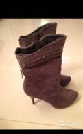 Женская обувь alla pugacheva эконика, новые полусапоги на каблуке
