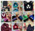 Детские аксессуары-шапочки и перчаточки