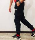 Джинсы мужские классические прямые regular fit, штаны джоггеры The North Face