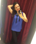 Блузка васильковая LR, магазин брендовой мужской обуви, Отрадное