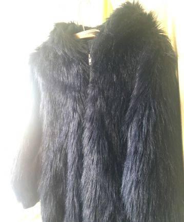 Длинное платье рубашка и джинсовая куртка, полушубок TopShop