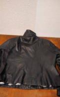 Платье в пол с воланом снизу из кружева, куртка кожа, дубленка натуральная