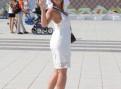 Платье до колена на полной девушке, платье сарафан кружево хлопок calzedonia