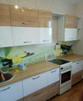 Кухня лакированная Диана 2300 мм дуб сонома/белый