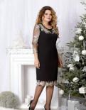 Платье нарядное 50, 52, 54, 56 размер, вечерние платья с кружевом внизу