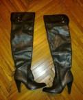 Обувь для зимней рыбалки купить, сапоги - ботфорты новые на каблуке