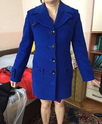 Синее кашемировое пальто, купить верхнюю одежду на весну для женщин