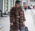 Женская одежда авери интернет магазин, шуба-трансформер из нат. меха песца Артикул 20006