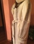 Платье кимоно из жаккарда, шуба норка и бобер