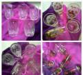 Наборы хрустальных стаканов, стопки, ваза