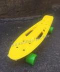 Пенни борд fish желтый с зелёными колёсами
