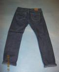 Мужской кожаный плащ в пол, джинсы стильные