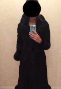 Женская юбка из фатина, дубленка с мехом песца 44-46р