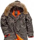 Мужские свитера аукро, куртка мужская N-3B Slim Fit серая натур. мех M
