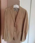 Футболка мужская полоска, лёгкий вельветовый пиджак Henderson, Кузьмоловский
