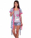 Красивая одежда для тренировок, комплект халат +пижама