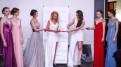 Свадебное платье атласное айвори, вечернее платье (прокат)