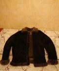 Мужская куртка бомбер Merinos, мужские дубленки с мехом норки