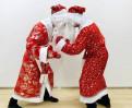 Костюм Деда Мороза, толстовка с капюшоном вязанная