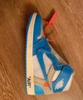 Кроссовки Nike x off white air Jordan 1, бутсы найк новинки, Санкт-Петербург