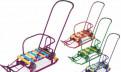 Санки с выдвижными колесами новые