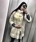 Белая Норковая шуба, фирма supreme одежда
