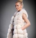Женские свитера крупной вязки купить интернет, жилетка песцовая, Каменногорск