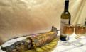 Праздничное блюдо Fish a' la RUS и торт Наполеон