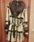 Шуба из кролика с чернобуркой, женская одежда в интернет магазине дешево, Первомайское