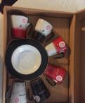 Новый Кофейный набор фарфор (6 чашечек +блюдца)