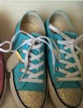 Кеды converse голубые, новые 23см. по стельке, осирис обувь купить
