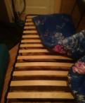 Раскладушка на деревянных ламелях с матрасом