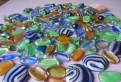 4 набора стеклянных камушков для декора, Выборг