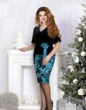 Свадебное платье больших размеров не белое, нарядная юбка и блуза 52 размер, Русско-Высоцкое
