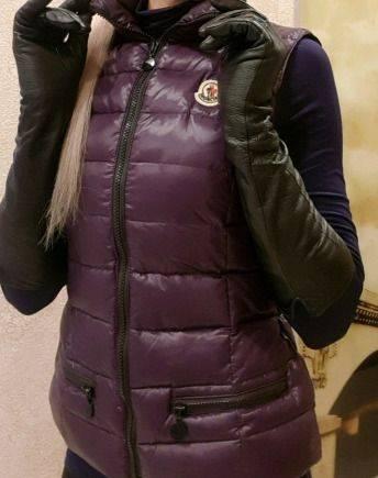 Жилет Monkler оригинал, гусиный пух, женские зимние пуховики с мехом ... b474db1968e