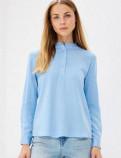 Новая голубая рубашка Modis, рубашки женские без воротника