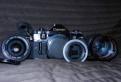 Canon a-1+canon28мм, 1.2+posso80-205 3.8+пер-ик м42