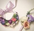 Бутоньерка и браслет для невесты