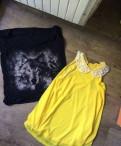 Пакет одежды на s, платье длинное шифон персик верх корсет кружево